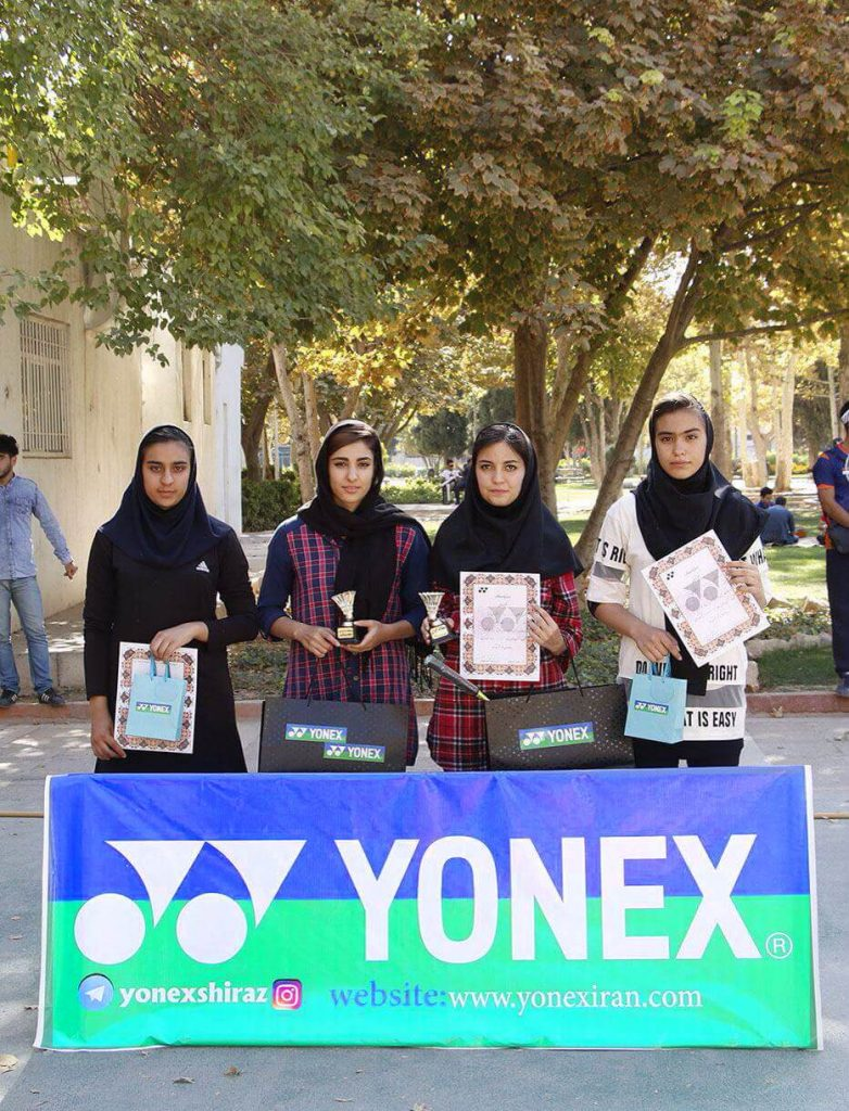 نفرات برتر اولين دوره مسابقات بدمينتون فضاي باز جام يونكس در شيراز