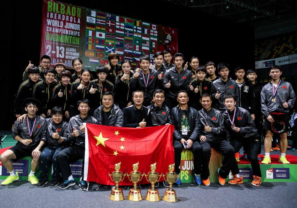 تیم چین که در بخش تیمی این مسابقات به مقام قهرمانی رسید