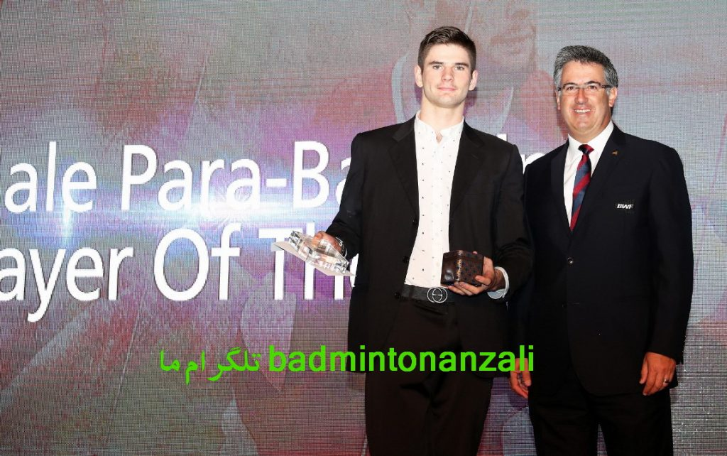 لوکاس مازور از کشور فرانسه ، مرد سال پارابدمینتون جهان